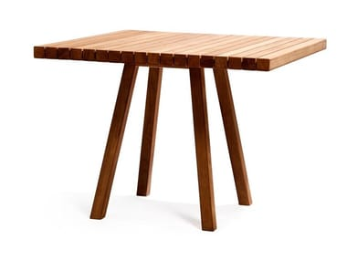 Square teak garden table VIS À VIS | Square table