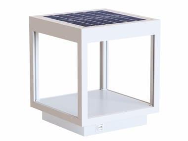 Lampada senza fili in alluminio con pannello solare VISOR SOLAR