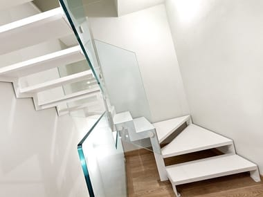 Z-shaped iron Open staircase VISTA ZETA