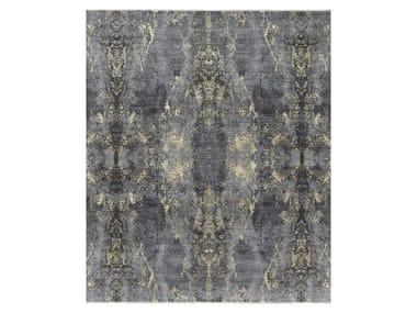 Handmade custom rug VISUAL BLACK & GOLD