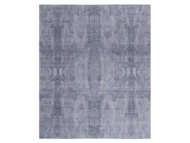 Handmade custom rug VISUAL GREY BLUES
