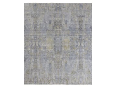 Handmade custom rug VISUAL GREY GOLD