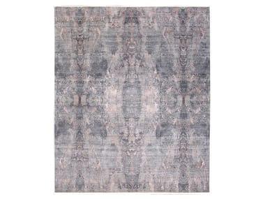 Handmade custom rug VISUAL GREY PINK