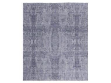 Handmade custom rug VISUAL GREY PURPLE