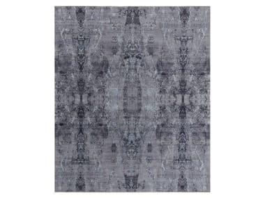 Handmade custom rug VISUAL PURPLE BLUE AZ11