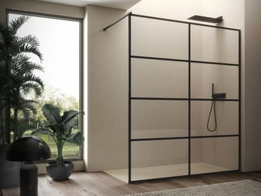 2 places glass shower cabin with tray VITRUM   Shower cabin