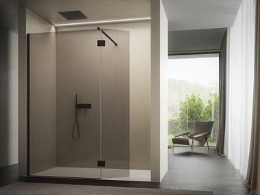 2 places glass shower cabin with tray VITRUM   Niche shower cabin
