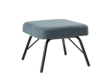 Fabric footstool with metal base VIVA PF01 BASE 21