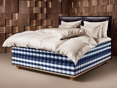 Fabric double bed VIVIDUS