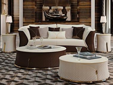 Leather leisure sofa VOGUE | Sofa