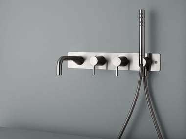 Wall-mounted bathtub mixer with hand shower VOLCANO 36 61
