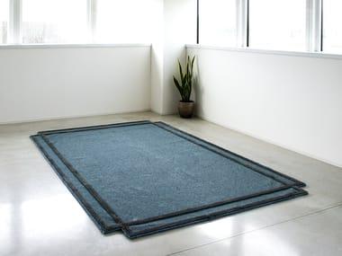 Rectangular fabric rug VOLENTIERI