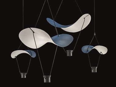 LED painted metal pendant lamp VOLLEE C2+2