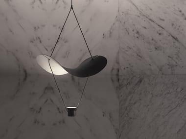 LED painted metal pendant lamp VOLLEE S1G