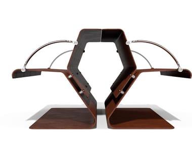 Panchina in acciaio Corten™ con schienale VOLO EVOLUTION