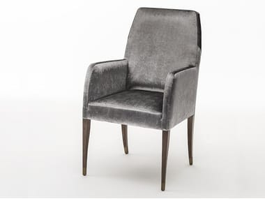 Upholstered fabric chair with armrests VOLTA | Chair with armrests