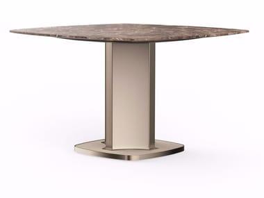 Tavolo quadrato in marmo VOYAGE | Tavolo quadrato
