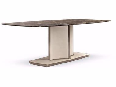 Tavolo rettangolare in marmo VOYAGE | Tavolo rettangolare