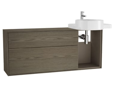 Wooden vanity unit with drawers VOYAGE FOR COUNTERTOP WASHBASIN | Vanity unit with drawers