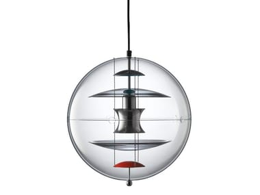 Acrylic pendant lamp VP GLOBE COLOURED GLASS