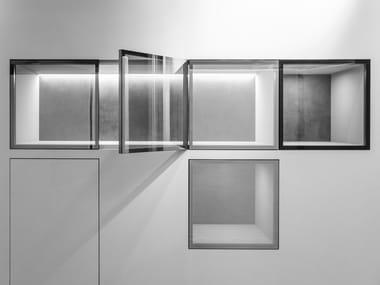 Nicchia in alluminio e vetro VTHECA