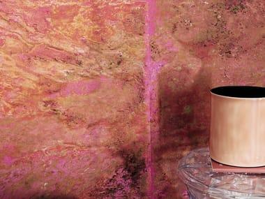 Indoor PET wall tiles with metal effect VULCAIN
