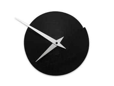Wall-mounted wooden clock VULCANELLO BLACK ASH