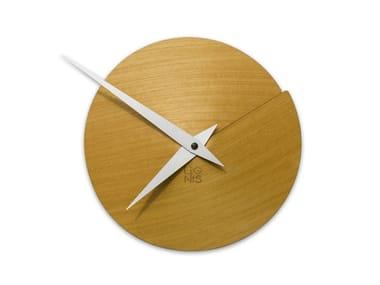 Wall-mounted wooden clock VULCANELLO YELLOW TAY