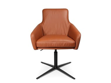 Swivel easy chair with 4-spoke base W-CUBE 1 CFL | Easy chair with 4-spoke base