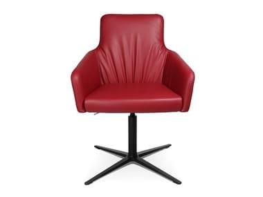 Swivel easy chair with 4-spoke base W-CUBE 1 CL | Easy chair with 4-spoke base