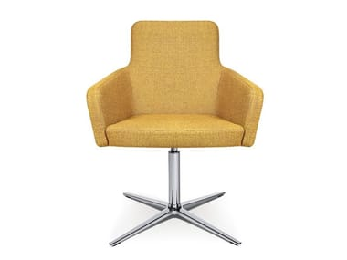 Easy chair with 4-spoke base W-CUBE 1 | Easy chair with 4-spoke base