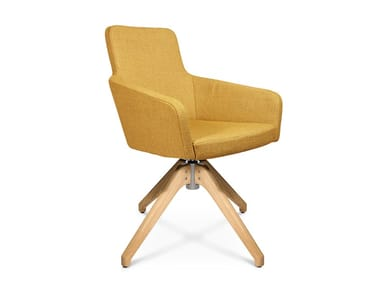 Trestle-based easy chair W-CUBE 1 | Trestle-based easy chair