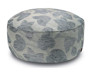 Pallina pouf in tessuto jacquard con motivo floreale WACHAU | Pouf