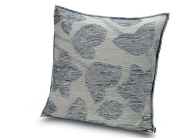 Cushion in jacquard fabric with floral motif in relief WACHAU | Cushion