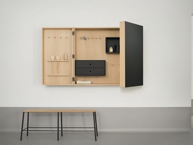 Wall cabinet with linoleum finish Wall cabinet