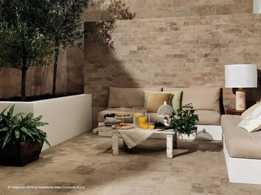Outdoor floor tiles with stone effect AIX | Outdoor floor tiles
