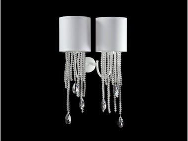 Lampada da parete a luce indiretta con cristalli ALICE   Lampada da parete