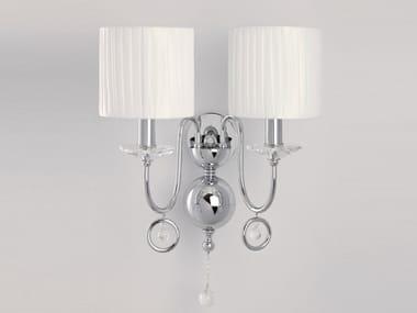 Lampada da parete a luce indiretta con cristalli GABRIEL | Lampada da parete