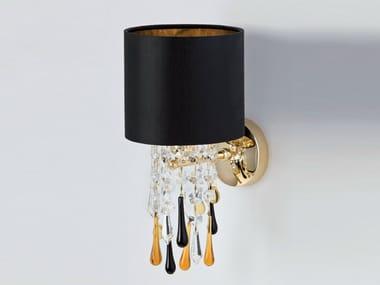 Lampada da parete a luce indiretta con cristalli GLAMOUR | Lampada da parete