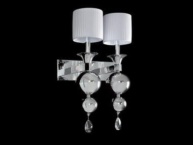 Lampada da parete a luce indiretta con cristalli GINEVRA   Lampada da parete
