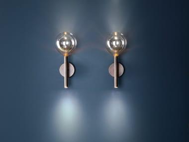 Borosilicate glass wall lamp SOFÌ | Wall lamp