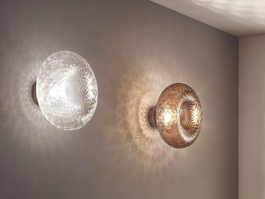 Blown glass wall light VERSI   Wall light