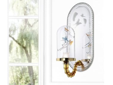 Murano glass wall lamp with fixed arm JARDIN DE VERRE | Wall lamp