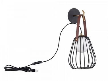 Leather wall lamp INDIANA | Wall lamp