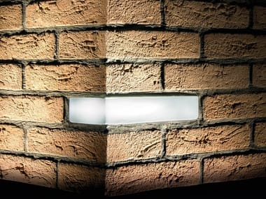 Lámpara de pared para exteriores encastrable BRICK OF LIGHT | Lámpara de pared para exteriores encastrable
