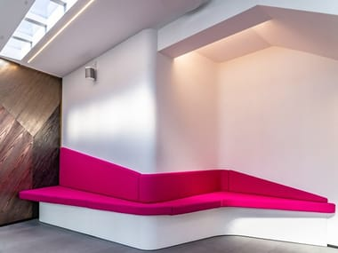 Wall-Mounted bench seating with back VIVALDI   Wall-Mounted bench seating
