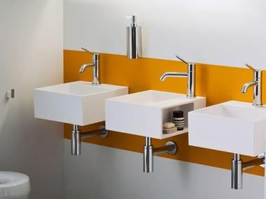 Lave-mains carré suspendu en Cristalplant® HANDWASH | Lave-mains suspendu