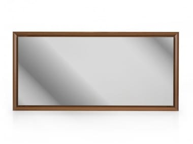 Rectangular framed wall-mounted mirror MOMENT | Wall-mounted mirror