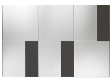 Rectangular wall-mounted mirror STRIP | Wall-mounted mirror