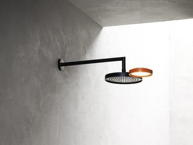 Tête de douche mural à effet pluie avec éclairage intégré NINFEA | Tête de douche mural
